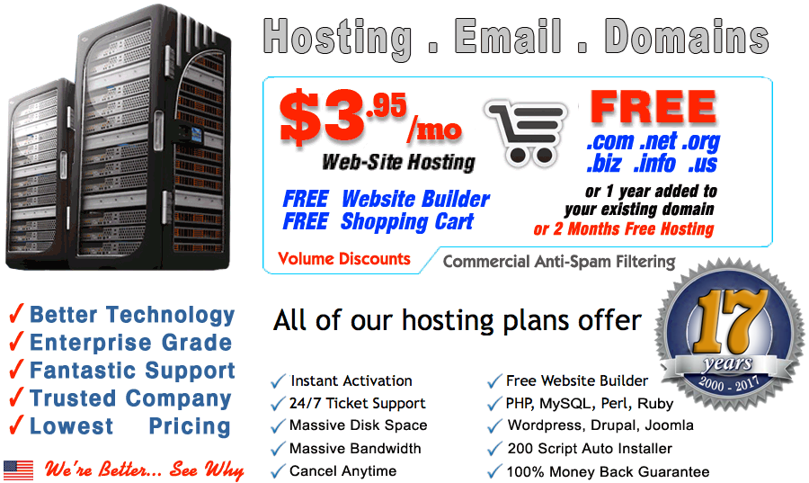 best web hosting lowest cost hosting  free domain website builder